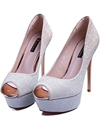 Amazon 50 Champagne Color es Para Eur Zapatos 100 Tacones UAZqUBSwxr
