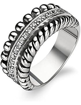 TI SENTO Milano Ring aus rhodiniertem Sterlingsilber - 1836ZI - Größe 56 (17,75mm)