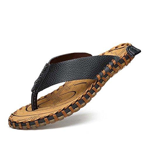 Pantofole cinturini Ciabatte infradito Uomini Clip Toe Pantofole  Antiscivolo Cucitura a mano Sandali da spiaggia Scarpe
