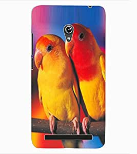 ColourCraft Love Birds Design Back Case Cover for ASUS ZENFONE 6 A600CG