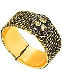 Shining Jewel Designer Udjustable Bangle With Kundan Stones For Women (SJ_3090)