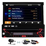 Wireless Camera Included! Eincar Single Din Head Unit 7 Inch Car Stereo