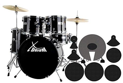xdrum-semi-inkl-becken-schlagzeug-dampferset-midnight-black-drumschool-inkl-dvd