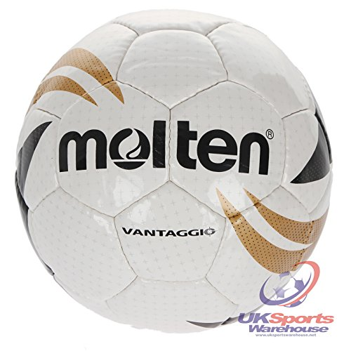 Molten VANTAGGIO League Standard Fußball Gr. 4 Junior/Youth RRP £20, White / Black / Gold, 4 -