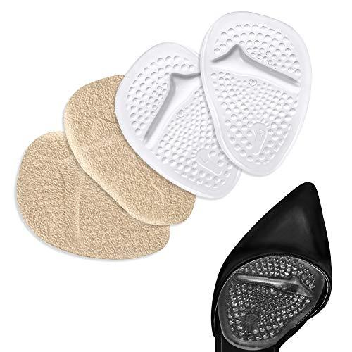 2 pares de almohadillas metatarsianas autoadhesivas para mujeres Zapatos de tacón alto, Cojín de antepié para zapato Inserciones para plantillas Dolor en el pie para caminar y estar de pie todo el día