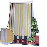 Paar Vorhänge Sonnenbrille für Outdoor Stoff Lines mit Ringe für Balkon, Terrasse, Haus–cm 150x 250–Gelb