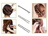 Yolito 200pcs Bobby Pins und U-Form Haarnadeln für Friseur, Braun, Schwarz