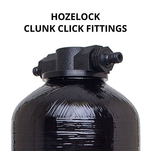 VYAIR 1017 BLACK High Pressure Reinforced Long Life Resin Vessel (16.7 Litre Capacity) CLUNK-CLICK HOSE FITTINGS