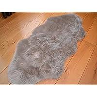 Silver Grey Faux Fur Sheepskin Style Rug (70cm x 140cm)