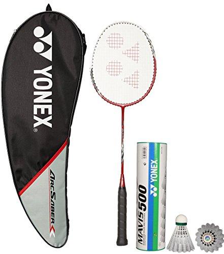 Yonex Arcsaber 200 & Mavis 500 Combo (Arcsaber 200 Taufic Hidayat Special Edition Badminton Racquet + Mavis 500 Pack of 6 Shuttlecock)  available at amazon for Rs.3726