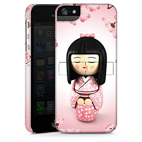 Apple iPhone X Silikon Hülle Case Schutzhülle Sakura Kokeshi Puppe Asien Premium Case StandUp