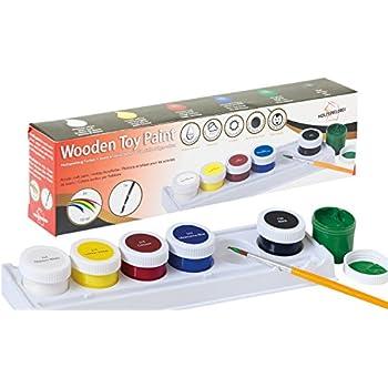 Holzspielzeug Farben - Acryl-Farben auf Wasserbasis für Kinder und ...