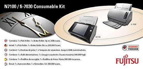 FUJITSU Consumable Ki für N7100 fi-7030 enthält 1xBreak Roller und 1xPick Roller max. Lebensdauer von 200.000 Blatt oder 1 Jahr (Fujitsu N7100)