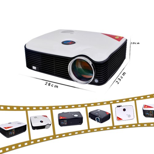 LightInTheBox ouku pH5 lED projecteur lCD wXGA/projector kinoprojektor 2600 home cinema, contraste 2000 aNSI lumen 1, :  wXGA (1280 x 800 pixels hD ready, 1 x hDMI soutien blanc