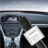 Icase4u Bluetooth karaoke microfono wireless Professional Player Altoparlante Con Borsa Da Trasporto Per Iphone Android, nero
