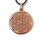 Gepardini Blume des Lebens Halskette mit SWAROVSKI® Edition Kristalle - Handarbeit, hochglanzpoliert (Rosévergoldet)
