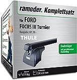 Rameder Komplettsatz, Dachträger SquareBar für Ford Focus III Turnier (116130-09157-1)