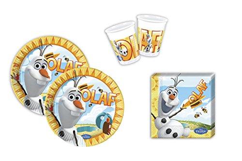 Preisvergleich Produktbild Disney Frozen Eiskönigin Olaf Party 52 teilig - 16 Kinder