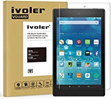 Fire HD 8 [2016 Version] / Fire HD 8 [2015 Version] Protector de Pantalla Cristal, iVoler® Film Protector de Pantalla de Vidrio Templado Tempered Glass Screen Protector para Amazon Fire HD 8 [2016 Version] / Fire HD 8 [2015 Version] - Dureza de Grado