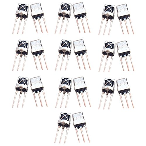 Optimus Electric 20pcs Universal Infrared IR Receiver TL1838 with 15m Sensing Distance and Steel Head Case for Remote Control Systems Devices from -