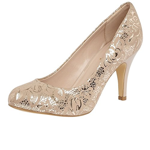 Lotus Clancy Womens Court Shoes 6 NUDE FLORAL PRINT