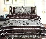 Day Night Bedding D & N Collection 4-teiliges Bettwäsche-Set mit Bettdeckenbezug, Spannbettlaken, Kissenbezügen, für Einzel-, Doppel-, King-Size- und Super-King-Size-Betten, Stripe Grey, Einzelbett