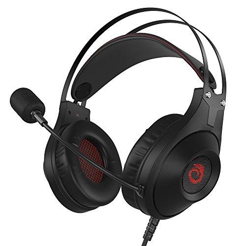 Xbox one headset versiontech. aggiornato gaming heasdset ps4con suono stereo da pro, morbido e cuscino orecchio cool dragon effetto luce led 2nd gereration overear interruttore cuffie per nintendo 3ds per ps4xbox one games