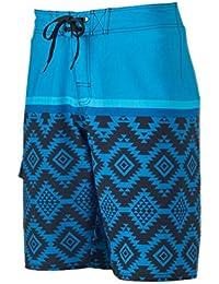 6fdd2fa4f1 Hang Ten Hang Ten Mens Black Floral Swim Bottom Board Shorts blue 28