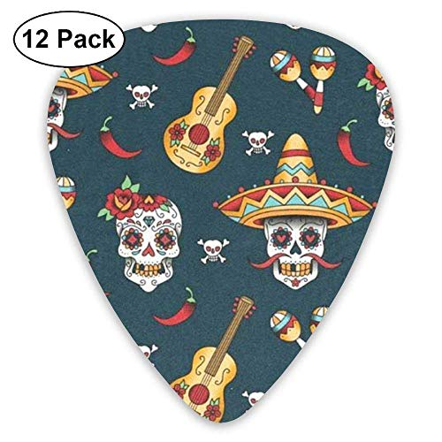 al Sugar Skulls Guitar Picks Electric Guitar 12 Pack ()
