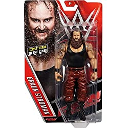 MARRONE STROWMAN - WWE SERIE BASIC 64 MATTEL GIOCATTOLO WRESTLING ACTION FIGURE