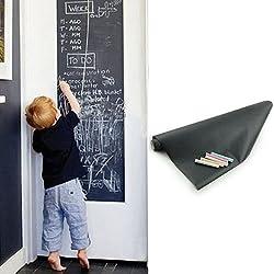 Seguryy autoadesivo rimovibile lavagna, 200 x 45 cm - Adesivo da parete in vinile lavagna adesivo da parete Schoolhouse con gesso