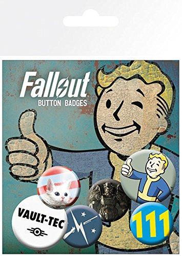 Preisvergleich Produktbild empireposter Fallout 4 - Mix 1-6 Ansteck Buttons für Fans - Größe je 25/32 mm Ø