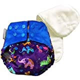 Superbottoms Cloth Diapers Supersoft Reusable Cover Diaper with 1 Stay Dry Soaker - Purple Love