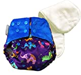 #5: Superbottoms Cloth Diapers - SUPER TRIM SUPERSOFT reusable COVER DIAPER with 1 Stay-Dry Soaker [Day Time Use] (Purple Love)