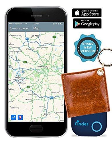 musegear Localizador de Llaves App con Piel auténtica - marrón - Nueva...