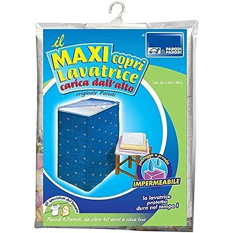 Cubierta lavadora con la parte superior de la máquina lavadora de carga, la máquina de carga de hojas protectores de lavado, cremallera universal, la tapa de lavado, que mide 46x60x88 cm, Art.