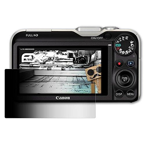 atFoliX Blickschutzfilter kompatibel mit Canon PowerShot SX230 HS Blickschutzfolie, 4-Wege Sichtschutz FX Schutzfolie