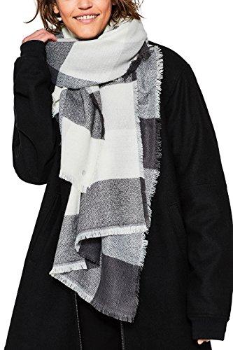 Esprit Accessoires Damen Schal 097EA1Q005 Grau (Anthracite 010), One size