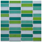truu Design InDesign Collection, rechteckig glänzend Wand Fliesen, Grün, 6Stück