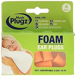 Hush Plugz 3920 Foam Earplugs (Pack of 4)