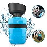 Cinati Bottiglia Acqua per Cani, Bottiglia Viaggio Portatile Per Cani, Dispenser di Acqua Pieghevole, Prova di perdite Bottiglia da Viaggio per Cani, Blu 18oz/520 ml