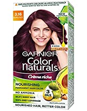 Garnier Color Naturals Crème hair color, Shade 3.16 Burgundy, 70ml + 60g