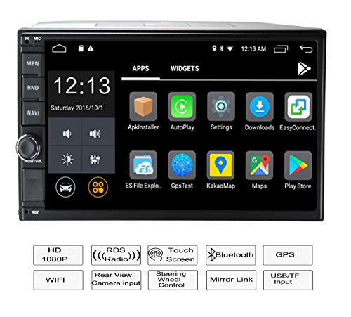LEXXSON 2 DIN autoradio Android auto stereo con specchio Link touch screen auto Bluetooth stereo supporta USB FM AM RDS AUX subwoof