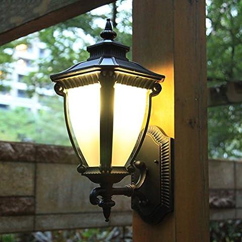 QIANG - European-style outdoor wall lamp pure aluminum retro door lamp high-grade villa outdoor wall lamp garden aisle lights