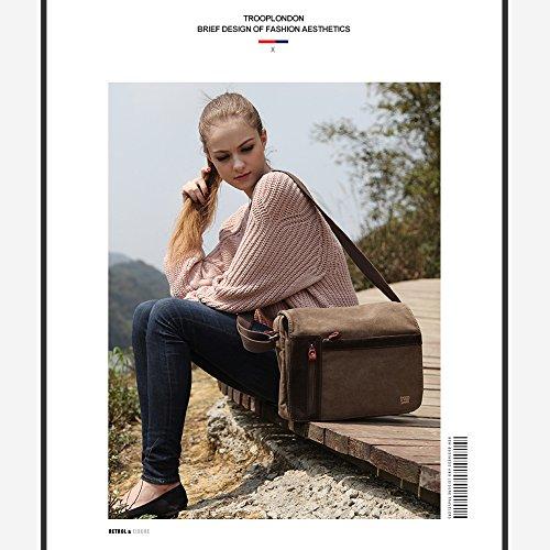 Eshow Männer Side Umhängetasche Crossbody Messenger Bag Multifunktionale Retro Modische Casual Business Bag, Grau Grau
