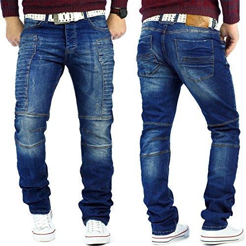 RedBridge Herren Jeans Mens Pants Freizeit-hose Clubwear Biker Style Top Denim Swag Dope Streetwear Modell-11