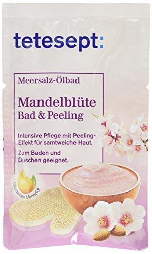 Tetesept Meersalz-Ölbad Mandelblüte Bad & Peeling, 65g