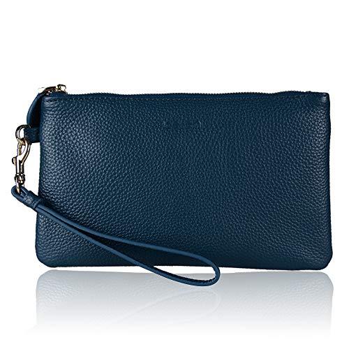 Wristlet Wallet, Frauen Echtes Leder Clutch Wallet Geldbörse Zipper Phone Geldbörse mit Kartensteckplätzen - Fit iPhone 8 Plus von Befen