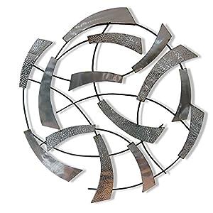 Sesam Decoration Wanddeko, Metall, Grau Silber, 80 X 80 X 5 Cm
