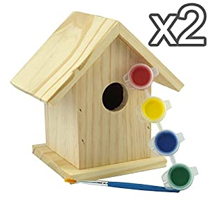 Paint Own Your Wooden Bird House - Make Birds Your Friends from Rose Evans